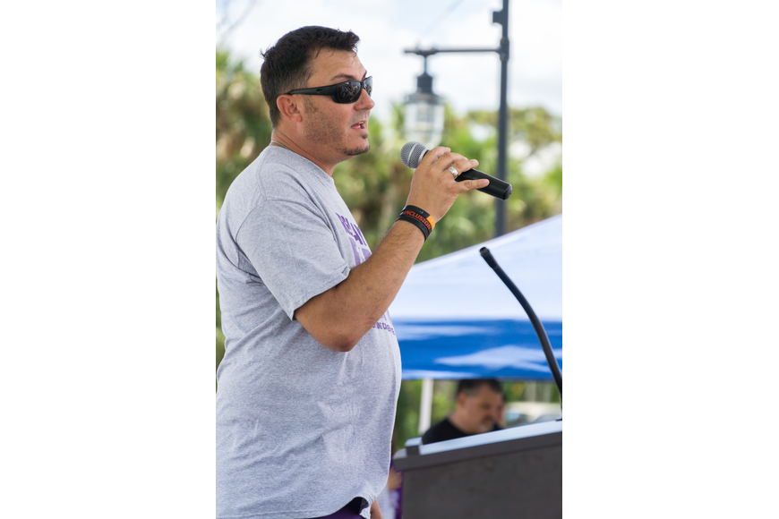 Joey Miller sings the National Anthem at the 2019 Relay for Life at Riverwalk Park in Port Orange. Photo by Zach Fedewa